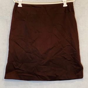 Banana Republic 8 Skirt Brown Solid A Line Cotton